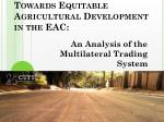 towards equitable agricultural development in the eac