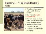 chapter 21 the witch doctor s wife