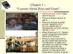 chapter 3 lessons about boys and goats