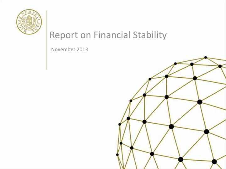 report on financial stability n.