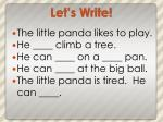 let s write3