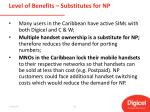 level of benefits substitutes for np