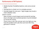 performance of np systems