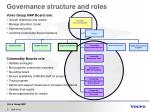 governance structure and roles