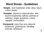 word stress guidelines7