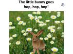 the little bunny goes hop hop hop