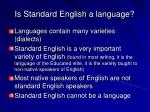 is standard english a language