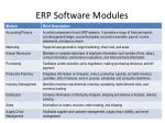 erp software modules