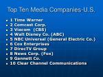 top ten media companies u s