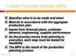 1 master production schedule mps