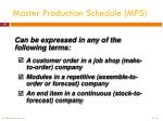 master production schedule mps1
