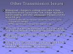 other transmission issues