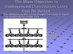 the main objection to underground distribution lines can be solved