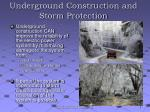 underground construction and storm protection