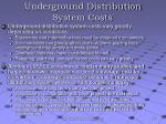 underground distribution system costs