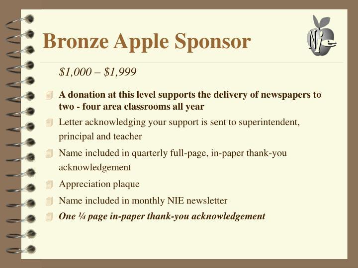 Bronze Apple Sponsor