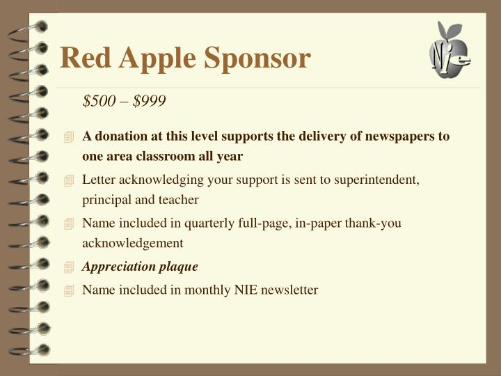 Red Apple Sponsor