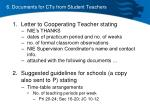 6 documents for cts from student teachers