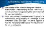 categorising specialising exemplifying