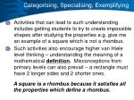 categorising specialising exemplifying1