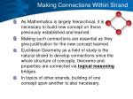 making connections within strand