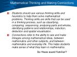 mathematical thinking and making connections1