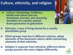 culture ethnicity and religion