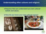 understanding other cultures and religions