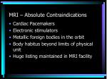 mri absolute contraindications