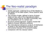 the neo realist paradigm