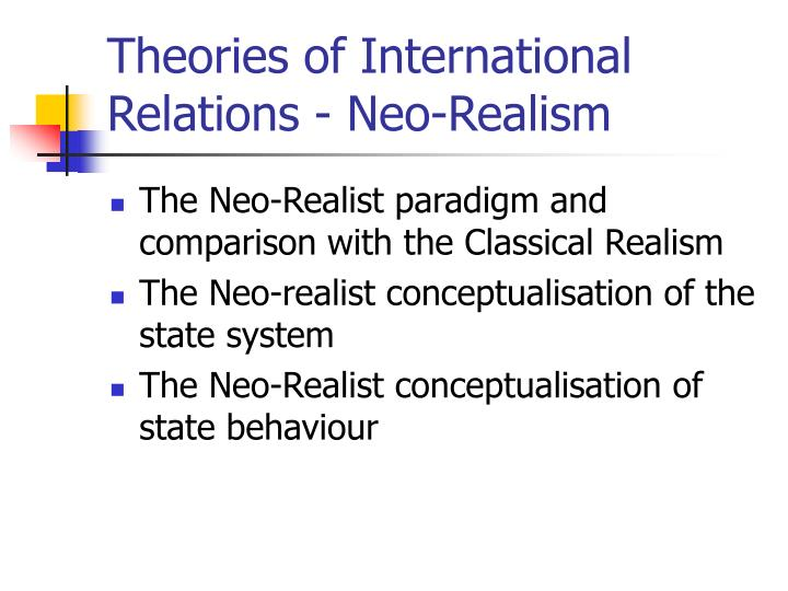 theories of international relations neo realism n.
