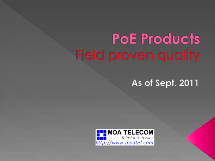 poe products field proven quality n.