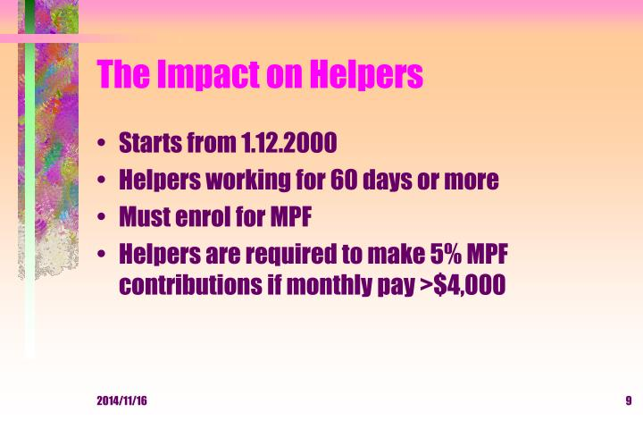 The Impact on Helpers