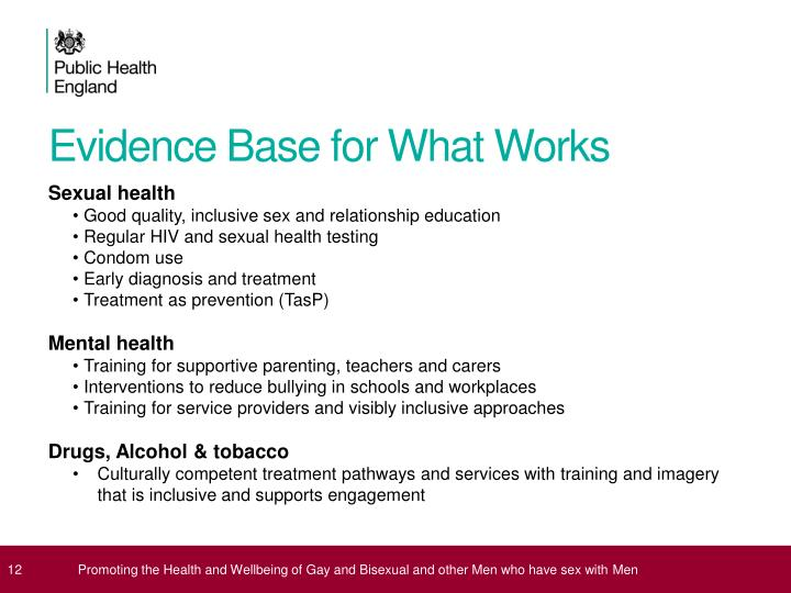 Evidence Base for What Works