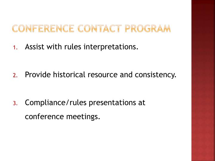 Conference Contact Program