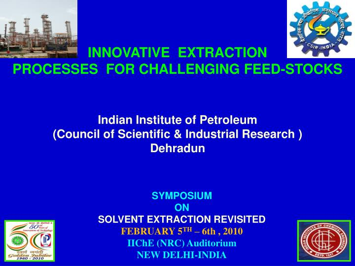 indian institute of petroleum council of scientific industrial research dehradun n.