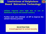 limitations of sulpholane based extraction technology