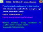 middle distillate de aromatization