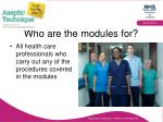who are the modules for