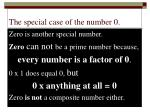 the special case of the number 0