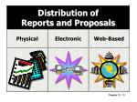 distribution of reports and proposals