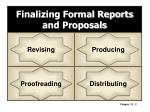 finalizing formal reports and proposals