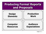 producing formal reports and proposals