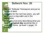 bellwork nov 26