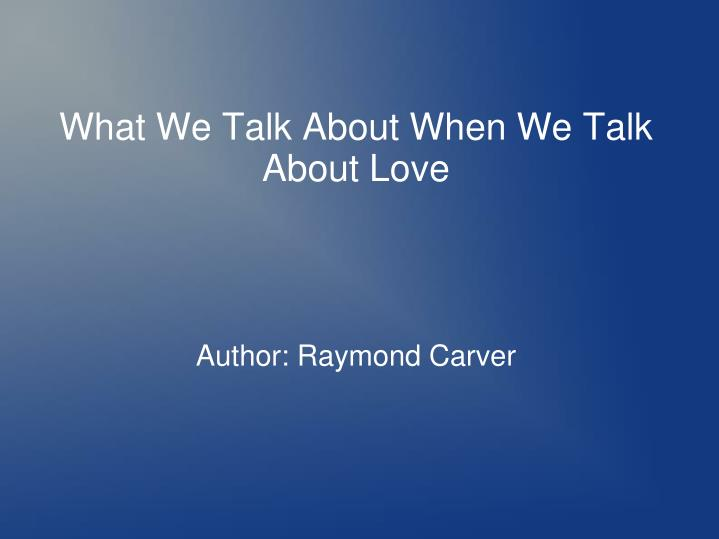 author raymond carver n.