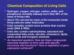chemical composition of living cells
