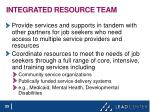 integrated resource team