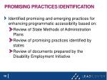 promising practices identification