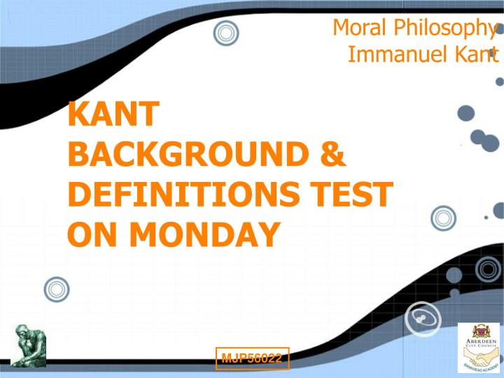 kant's moral rule Kant also said that moral rules must respect other human beings, and that all humans occupy a special place in creation, and are all equal he thought that all humans should be treated as.