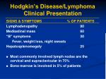 hodgkin s disease lymphoma clinical presentation1